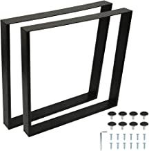 Stalen U Tafelpoten Set vanStalen U Tafelpoten Set van 2 U Tafelpoot Industriële, Robuuste Set Poten DIY Vierkante Frames ...