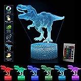 3D Dinosaurier LED Nachtlicht Illusion Lampe Jungen Kinder Deko Licht