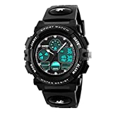 Boys Watch, Multi Function Waterproof Kids Outdoor Sports Watches Digital Watches for Boy Black