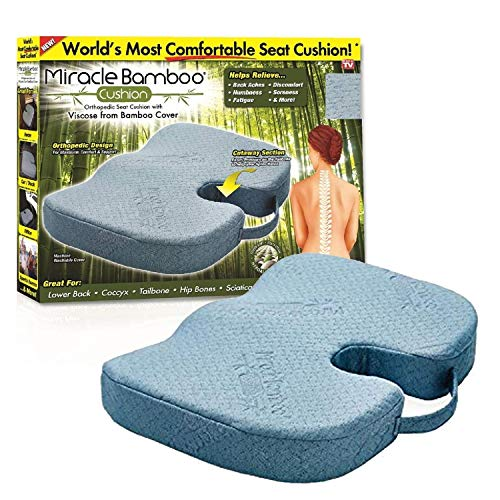 Miracle Bamboo Cushion Color Gray 2 Pack