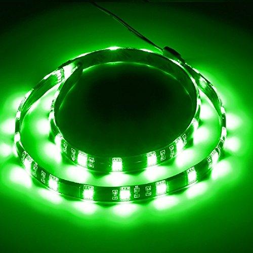 REY Tira LED SMD de 90cm Adhesiva y Flexible, Resistente al Agua, Color Verde