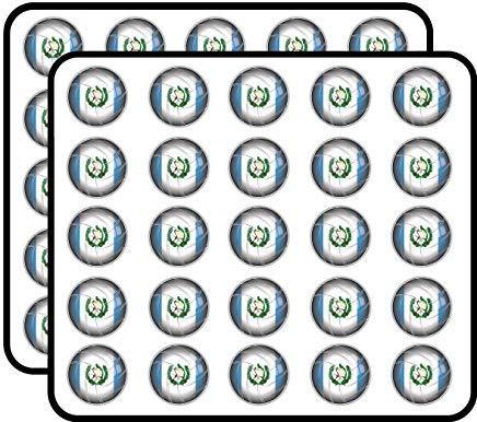 Pegatinas de vinilo de la bandera del mundo de Guatemala, divertidas para niños, manualidades, álbumes de recortes, ordenador portátil, parachoques, pegatinas para niños, 50 unidades