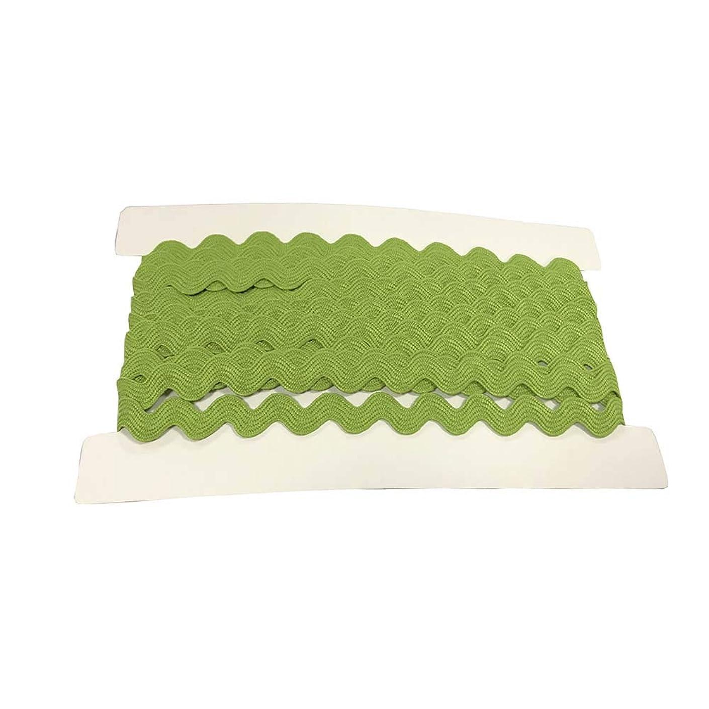 Rick Rack Trim 12mm Width Polyester Baby Ric Rac Trim Green, 5M per Cards