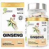 Neu: Koreanischer Bio-Ginseng (Panax) 300mg Wurzelextrakt | Entspricht 1200mg der Gesamtpflanze (4:1...