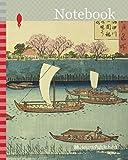 Notebook: Cherry Trees along the Sumida River Embankment at the Mimeguri Inari Shrine (Sumidagawa Mimeguri Inari tsutsumi no hana), from the series ... Hiroshige 歌川 広重, Japanese, 1797-1858, Japan