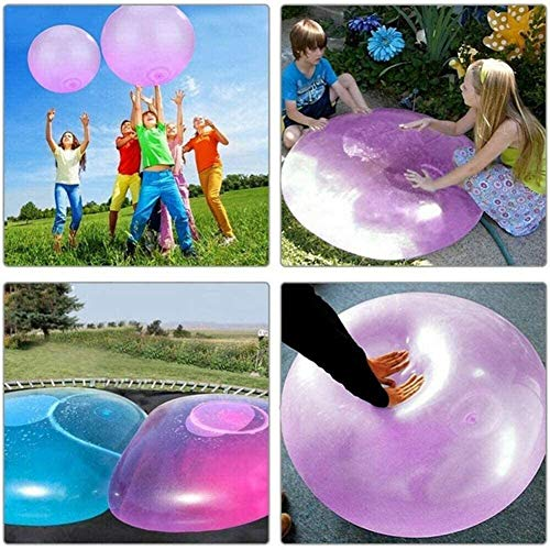 Deashun Bubble Ball for Kids 2 Pack Bubble Balloon Inflatable Funny Toy for Adults Kids Inflatable Water Ball Beach Garden Ball Soft Rubber Ball Outdoor Party (L)