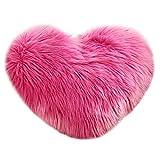 VJGOAL Encantador en Forma de corazón Funda de Almohada Suave y cómodo sofá de Felpa Funda de cojín decoración del hogar(40_x_50_cm,Multicolor3)