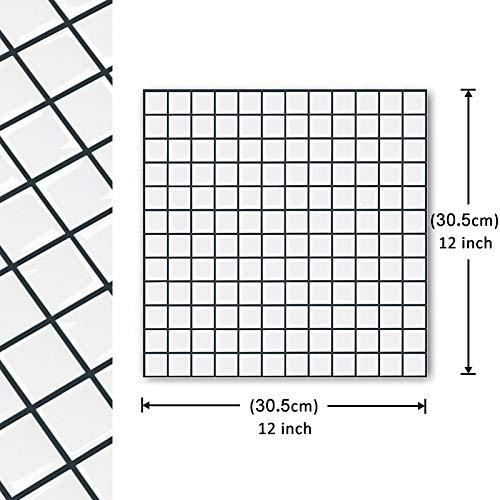 Leileixiao 10 pegatinas autoadhesivas para azulejos de mosaico, para decoración del hogar, para cocina, baño, decoración del hogar (color: TSQS63)