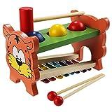Smibie Xilófono de Madera Juguete 2 en 1 Instrumento Musicales para Niños con...