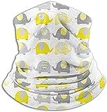 N/A Calentador de cuello de microfibra Amarillo gris Lindo cuello de elefante Polaina Tubo Calentador de oído Diadema Bufanda Mascarilla Pasamontañas