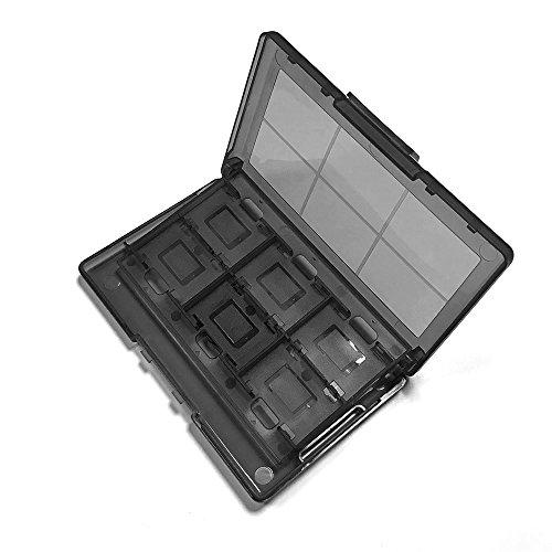 Goolsky- 24 en 1 boîte de Rangement pour Nintendo Cartes de Jeu Portables étui ABS Antichoc Hard Shell pour Nintend Switch NS Jeu Carte