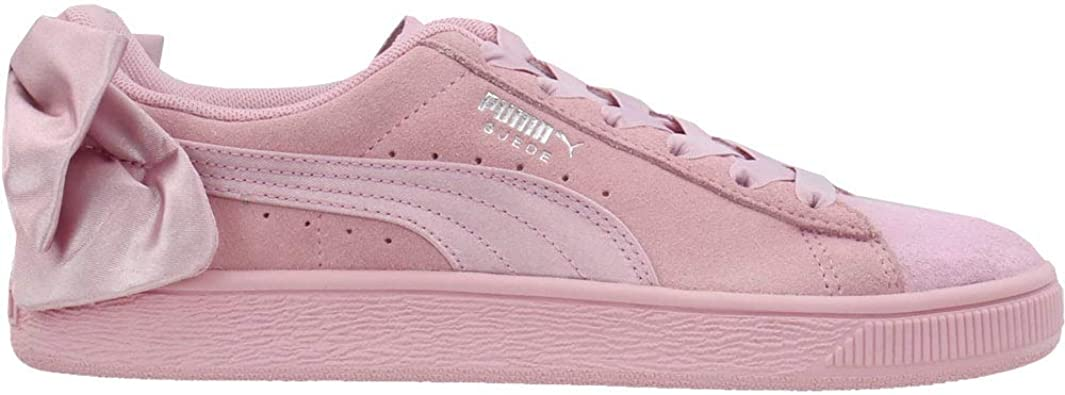 PUMA Womens Suede Bow Galaxy Lace Up Sneakers Shoes Casual - Pink