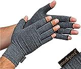 Medipaq - Guantes Anti-Artritis (Par) – Ofrecen Calor Y Compresión Para Ayudar A Aumentar La Circulación Reduciendo El Dolor Y Promover La Sanación - 1 Par con Agarre (Grande)