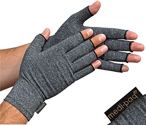 Medipaq Anti-Arthritis-Handschuhe (Paar) – fingerlose Handschuhe für Arthritis bieten Wärme und Kompression