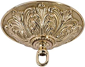 B&P Lamp Heavy, Antique Style Brass Canopy Kit, 5 1/2