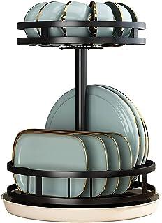 360 ° Rotatie Afdruiprek, Klein Afdruiprek Met Lade Compact Roestvrijstalen 2-laags Afdruiprek Voor Aanrechtkast, Grote Ca...