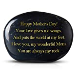 Brital Happy Mother's Day! You are always my rock. Engraved Rock Gift Mother's Day Present from Daughter or Son