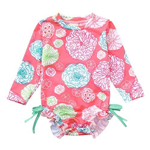 GHXCJ Trajes de baño de una Pieza con Estampado de Cisne para niñas pequeñas, Traje de baño con Volantes, Ropa de Playa