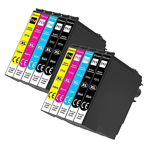 Pack de 10 cartuchos de tinta compatibles con Epson 71XL (no OEM), recambios para cartuchos Epson T0711 T0712 T0713 T0714 T0715, compatible con Epson Stylus SX100 SX218 SX415 SX515W