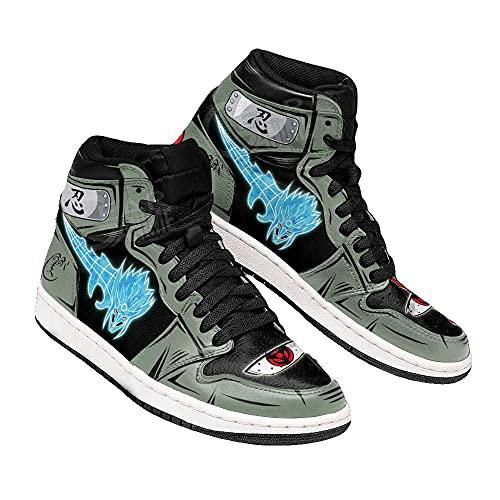 Kakashi Susanoo Sneakers Naruto Custom Anime Shoes -Zapatillas de Baloncesto para Hombre, Antideslizantes, Transpirables, con Cordones, Zapatillas Deportivas al Aire Libre a Juego