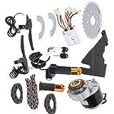 SONK Fahrradmotor-Kit, Zubehörsatz für Elektroradbürstenmotorsteuerung zum Umrüsten normaler Fahrräder auf Elektrofahrräder, Ebike-Umrüstsatz für Normale 22-28-Zoll-Fahrräder mit Langer Lebensdauer