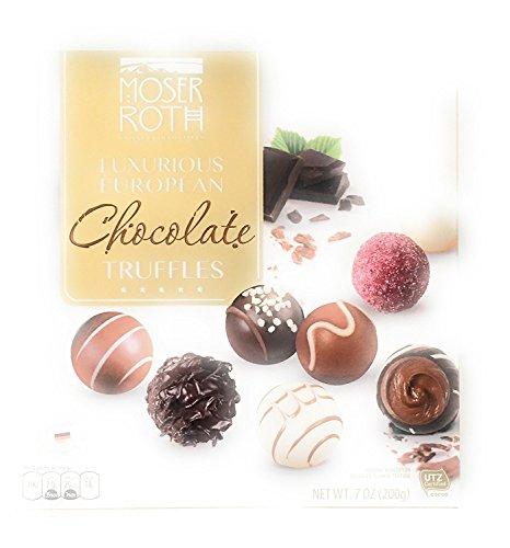 Moser Roth Luxurious European Chocolate Truffles Privat Chocolatiers 7 Oz Box
