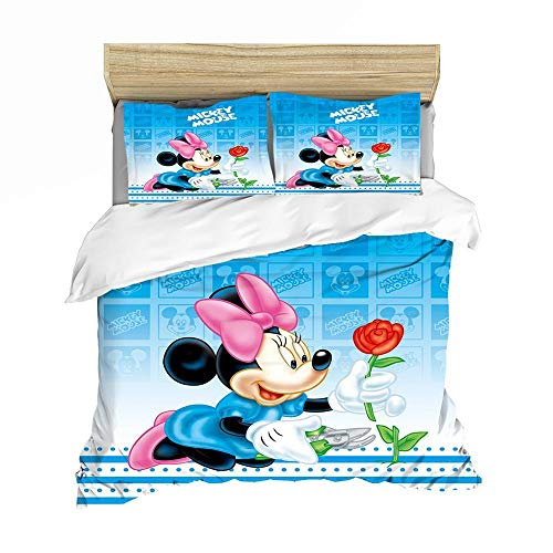 Rnvvaceo Bedding Sets Duvet Cover Polyester Microfiber 3D Printing Cartoon Bedding 3Pcs, 1*duvet cover 2* matching pillowcases For Kids and Family ( King size 240 x 220 cm Cartoon anime character),