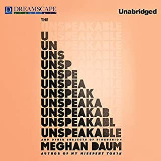 The Unspeakable audiobook cover art