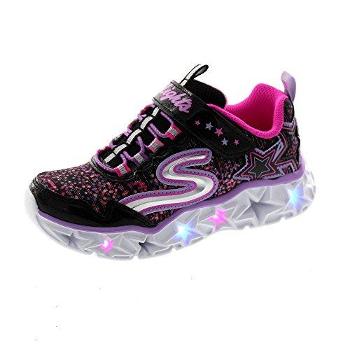 Skechers S Lights®-Galaxy Lights 10920L/BKMT Mädchen Klettverschluss/Slipper Halbschuh, Größe 32