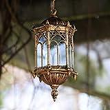 LI Xiang Europea lampadario Antico Esterno in Bronzo Alluminio Madreperla Vetro Lanterna orto di personalità Modello soffitto del Portico Decorazioni Esterne a Sospensione E27 Tradizionale Luce