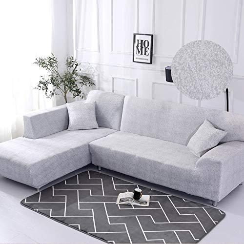 WXQY Funda de sofá geométrica, Funda de Tela de algodón, Funda de sofá, Funda de sofá elástica para Sala de Estar, Funda de sofá Chaise Longue en Forma de L A9 1 Plaza