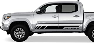 Bubbles Designs 2X Side Door Stripes Decal Sticker Graphic Compatible with Toyota Tacoma 2015 2016 17B