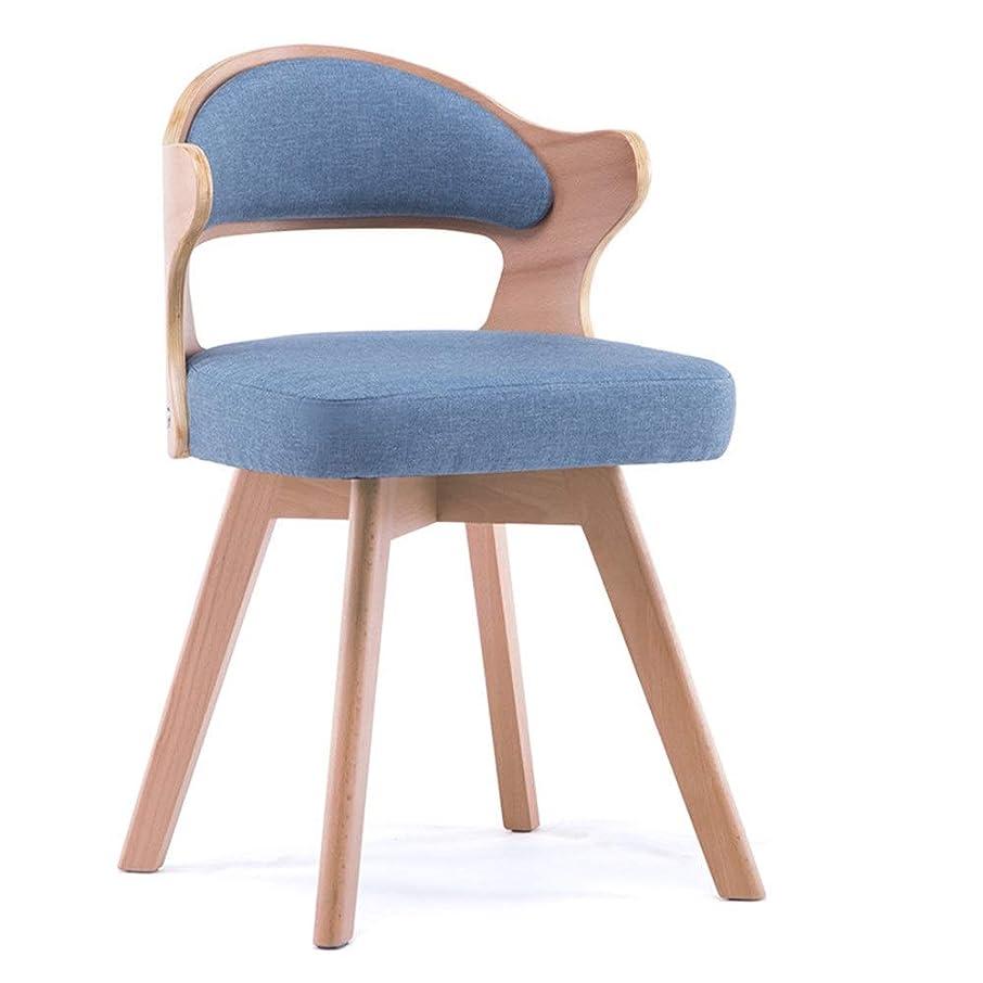 テクニカル記憶に残るヘッジ木製チェア 360°回転レストランの柔らかい座席オフィスバーの椅子の快適なあと振れ止めの綿および麻布 カフェ木製椅子 (色 : 緑, サイズ : 73*45*48cm)