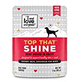 """""""I and love and you"""" Top That Shine Wet Dog Food Pouch, Beef Recipe In Gravy, 3 oz (Pack of 12)"""
