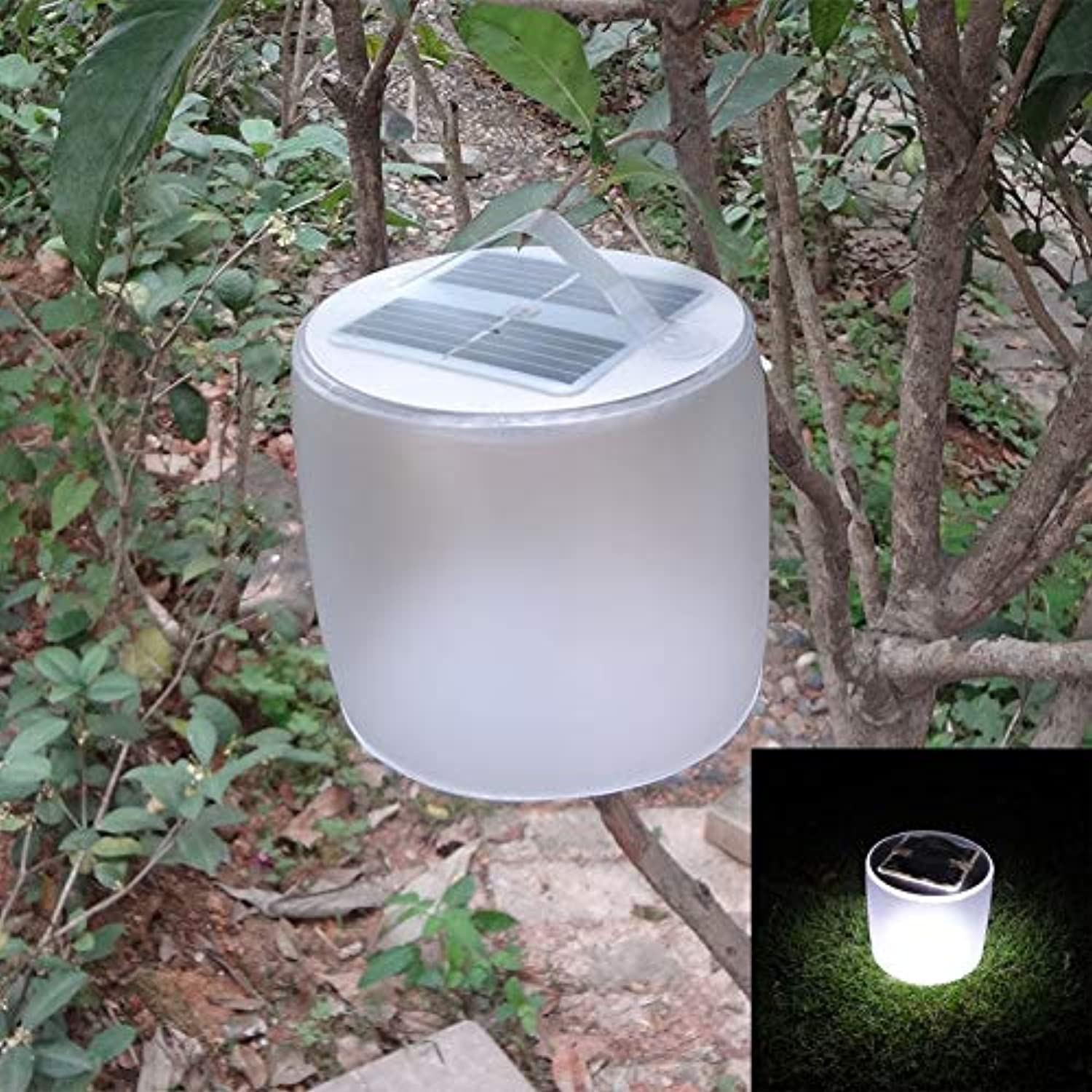 Multi color   10 LEDs Solar Light Inflatble redable Camping Hiking Lantern Lights Waterproof Night Lamp with Different Modes Emergency Lamps