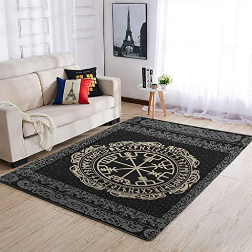 YOUYO Spark Alfombra Vi-king Veg-visir absorción de agua - diseño limpio alfombra para el hogar blanco 50 x 80 cm