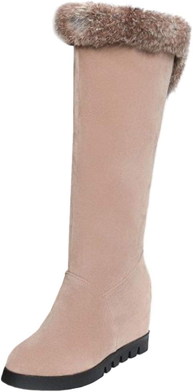 VulusValas Women Fashion Wedge Heel Winter Boots Pull On