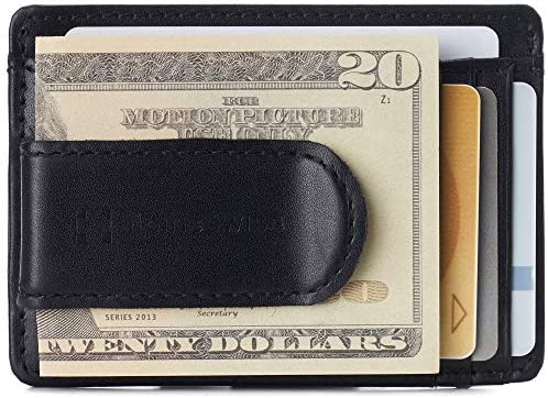 Alpine Swiss Dermot Mens RFID Safe Money Clip Minimalist Wallet Smooth Leather Comes in Gift product image