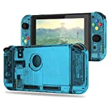 Myriann 任天堂 Nintendo Switch ニンテンドー カラー置換ケース 代わりケース 外殻 ついに登場! (ジョイコン&スイッチ-透明感 シアン)
