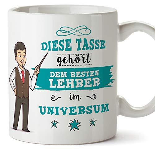 Lehrer Tasse/Becher/Mug Geschenk Schöne and lustige kaffetasse - Diese Tasse gehört dem besten Lehrer im Universum - Keramik 350 ml
