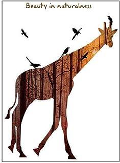 Adhesivos de pared para nevera (30 x 90 x 2 cm), diseño de jirafa