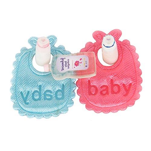 Gazechimp Kit Miniature Bavoirs Biberon Shampooing Jouet Pour Bébé Dollhouse Accessoire