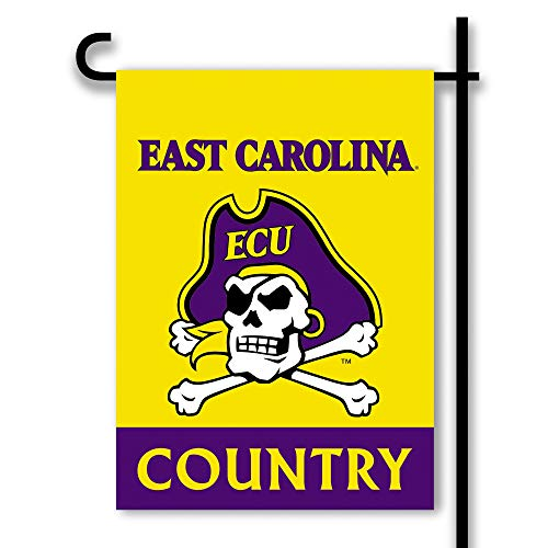 NCAA East Carolina Pirates 2-Sided Country Garden Flag, Team Color