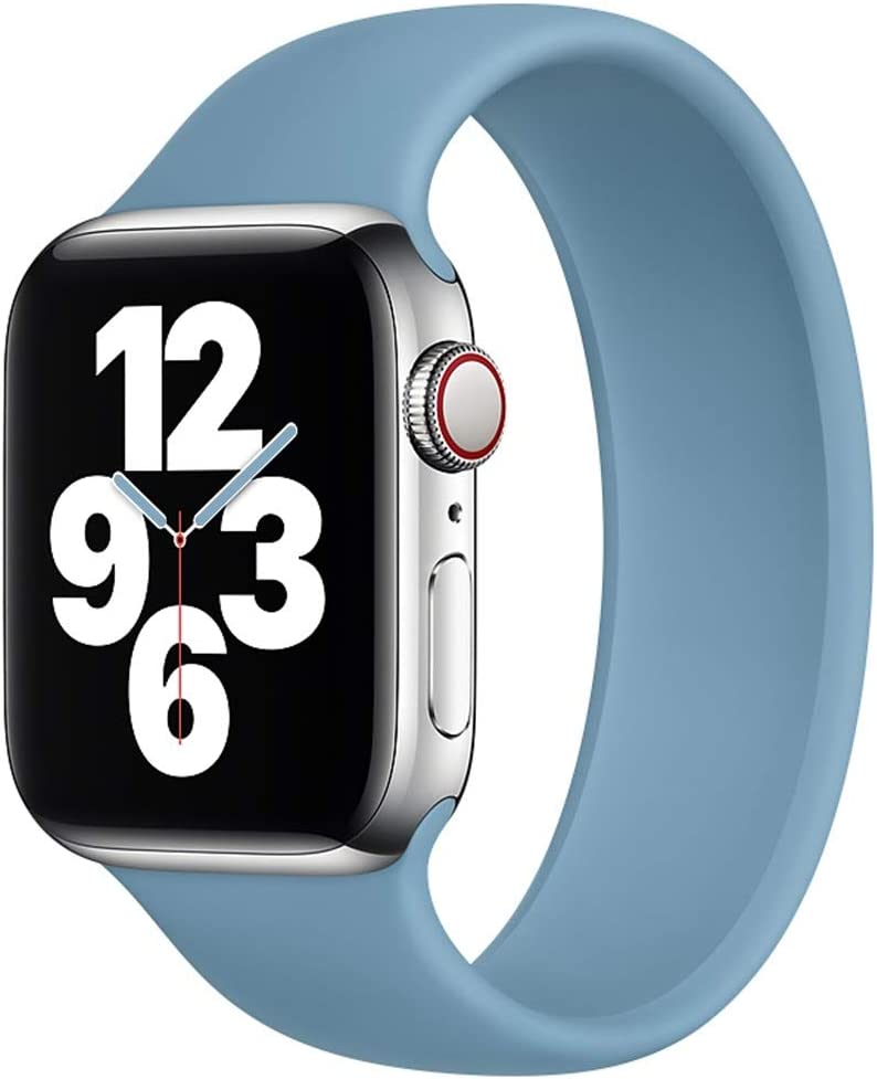 Strawberry Apple Pie - Solo Loop Band Compatible with Apple Watch Bands Replacement Sport Strap Silicone Wristband Men Women for Iwatch Series 6/SE/5/4/3/2/1 40mm 38mm Northern Blue 38mm 40mm Size 9