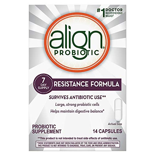 Align Probiotic, #1 Doctor Recommended Brand, Resistance Formula, Survives Antibiotic Use, Maintains Digestive Balance, 7 day supply, 14 Capsules