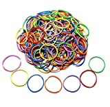 200 Pcs 2.5cm 1' Small Assorted Mixed Rainbow Colorful Rubber Bands Bulk Elastic Wide Money Rubber Bands Stationery Holder Thermostability Strong Elastic Band Loop Office Supplies (Multi Colored)