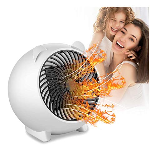 MOOLUNS Calefactor Portátil, Mini Ventilador de Calefactor, 500w Cerámico Caliente Ventilador, Calentador De Portátil para Cuarto Oficina, PTC calefacción de cerámica