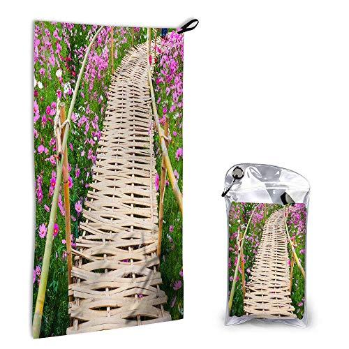 Toallas de Mano para Pasarela de bambú Toalla de Cara, Cosmos Flower Garden Plum Purple Daisy Toalla de Mano Super Absorbente Toallas para Las yemas de los Dedos para baño Gimnasio Playa Deporte