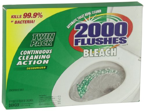2000 FLUSHES-290081Chlorine Bleach Automatic Toilet Bowl Cleaner, 35g [Twin-Pack],Pack of 1