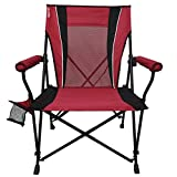 Kijaro Dual Lock Hard Arm Portable Camping and Sports Chair, Red Rock Canyon
